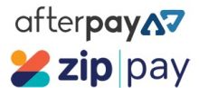 Afterpay and Zip Pay Accepted